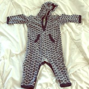 Tea Collection hooded one piece 6-12 months